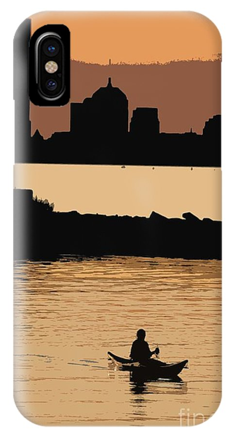 Boston IPhone X Case featuring the photograph Boston Across The Bay 2 by David Leiman