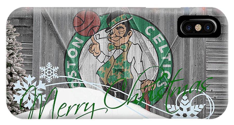 Celtics IPhone X Case featuring the photograph Boston Celtics by Joe Hamilton