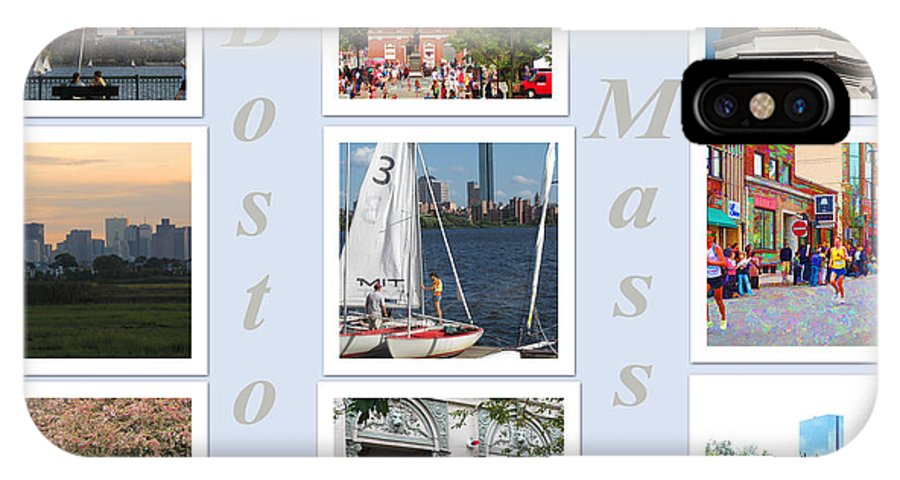 Boston IPhone X Case featuring the photograph Boston Collage by Barbara McDevitt