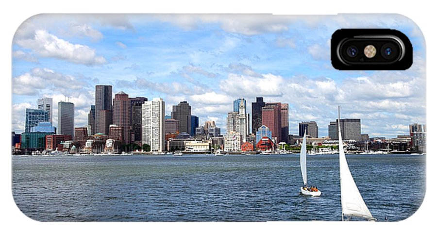Boston IPhone X Case featuring the photograph Boston Harbor by Denis Tangney Jr