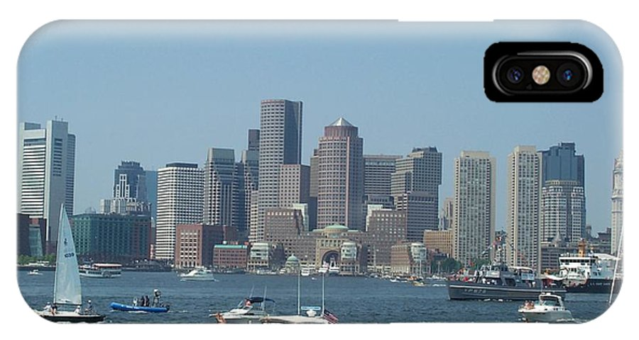 Boston Harbor IPhone X Case featuring the photograph Boston Harbor July Fourth by Barbara McDevitt