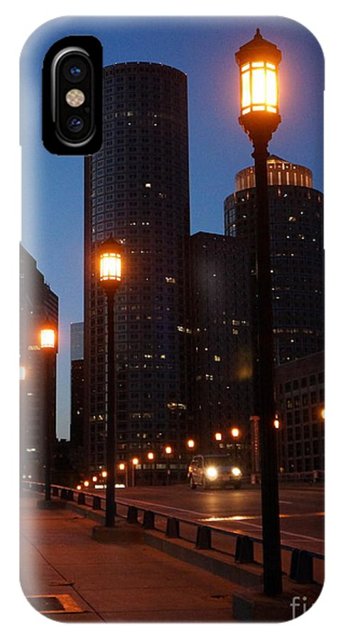 IPhone X Case featuring the photograph Boston Lights by Elena Alexandrova