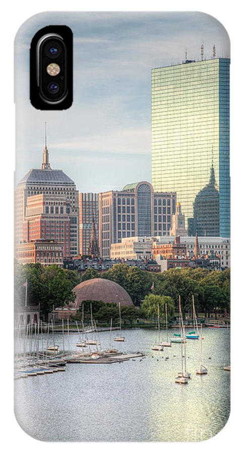 Clarence Holmes IPhone X Case featuring the photograph Boston Skyline II by Clarence Holmes