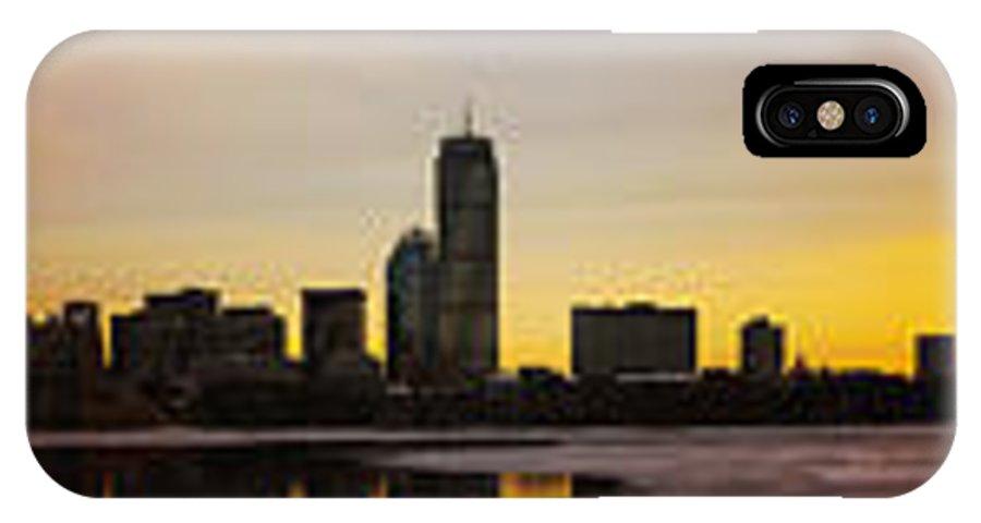 Boston IPhone X Case featuring the photograph Boston Skyline Sunset by Pedro Correa