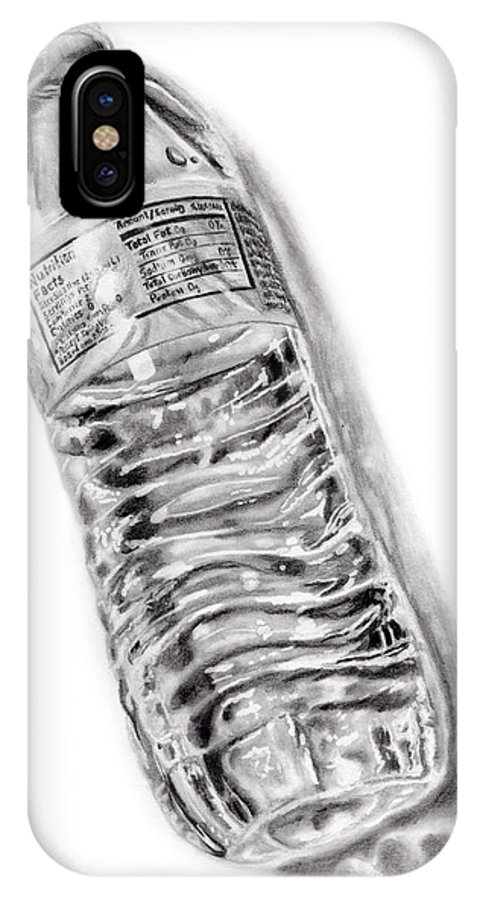 Water IPhone X Case featuring the drawing Bottled Water by Dale Jackson