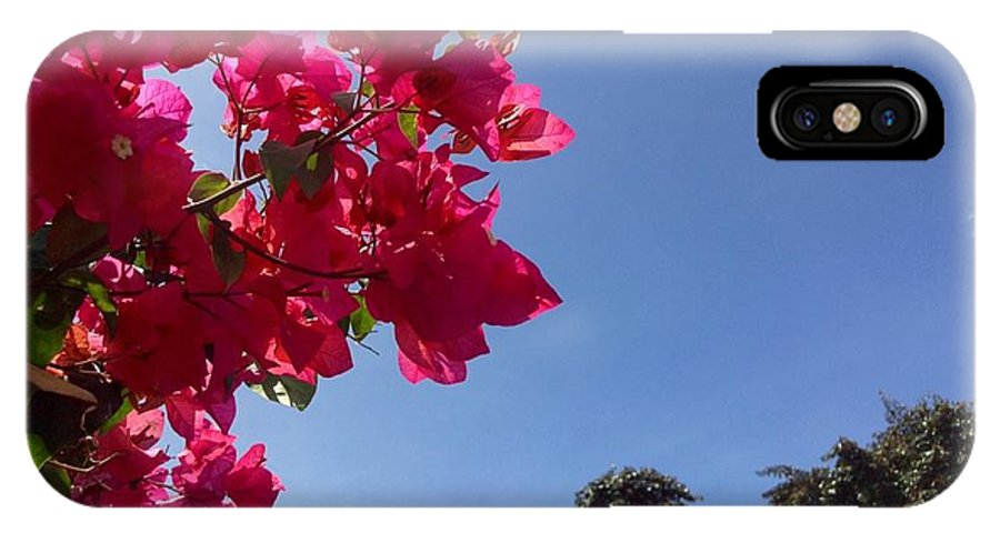 Flower IPhone X Case featuring the photograph Bougainvillea by Dickson Shia