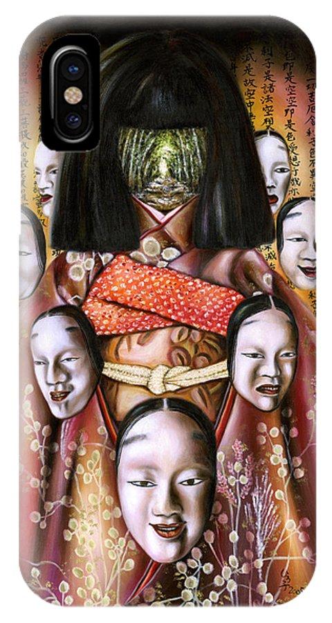 Japanese IPhone X Case featuring the painting BOUKYO Nostalgisa by Hiroko Sakai