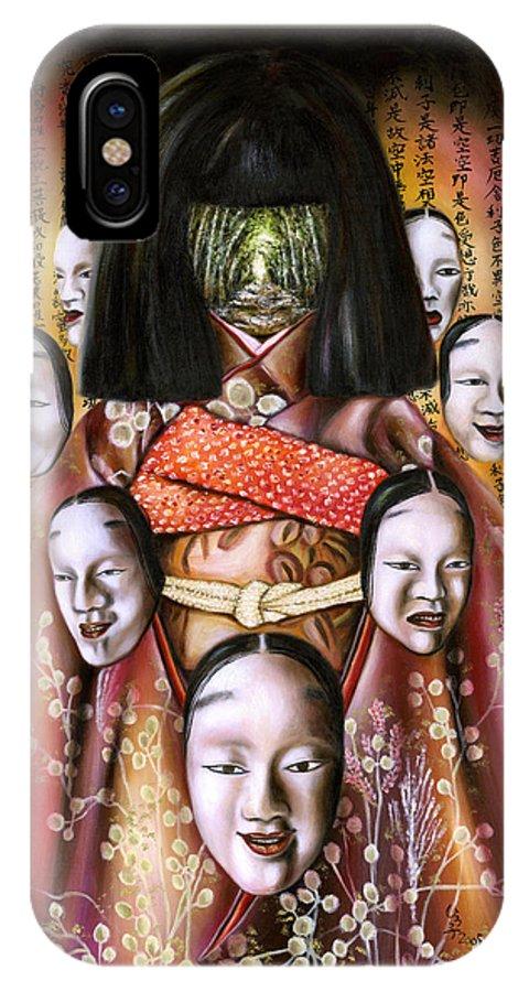 Japanese IPhone Case featuring the painting Boukyo Nostalgisa by Hiroko Sakai