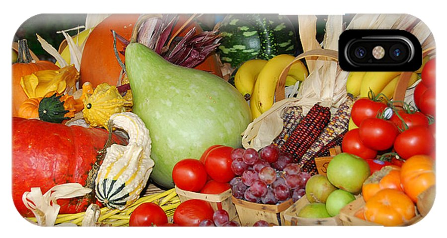 Fruits IPhone X Case featuring the photograph Bountiful Harvest by Lynn Bauer