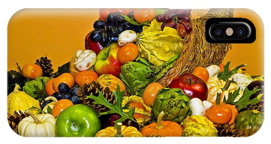 Cornucopia IPhone X Case featuring the photograph Bountiful Harvest by Valerie Fuqua
