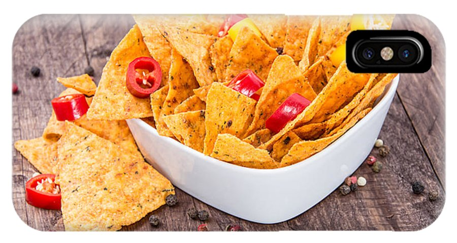 Nacho IPhone X Case featuring the photograph Bowl Filled With Nachos by Handmade Pictures