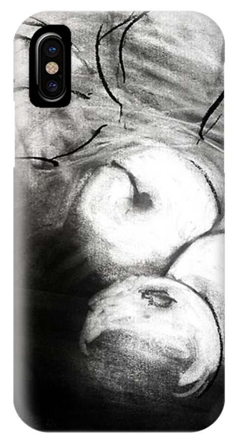 Fruit IPhone X Case featuring the drawing Bowl by Helen Syron