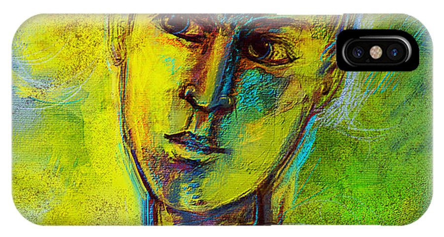 People Portrait Canvas Print IPhone X Case featuring the digital art Boy by Nato Gomes
