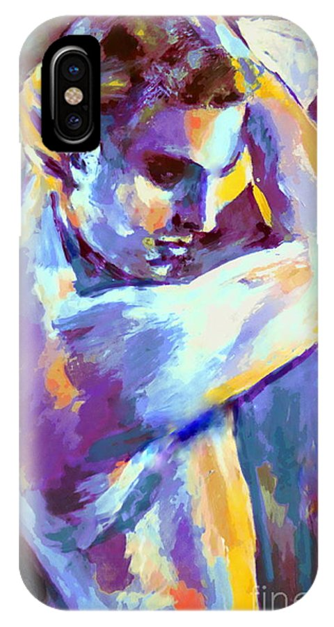Nude Figures IPhone X / XS Case featuring the painting Boy S Figure by Helena Wierzbicki