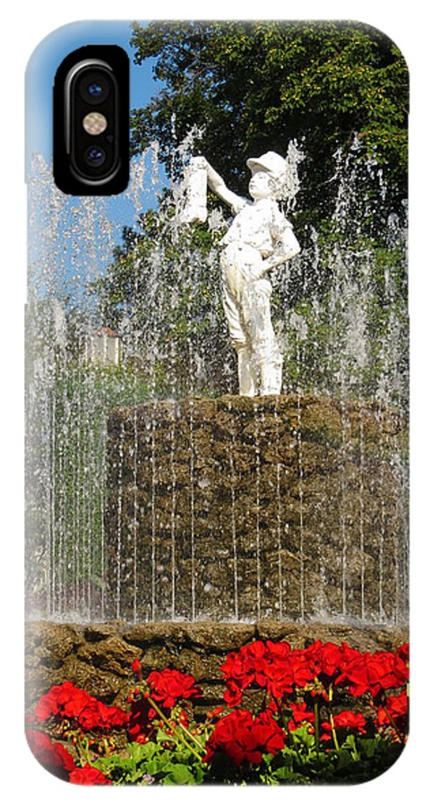 Fountain IPhone X Case featuring the photograph Boy With The Boot 3 by Shawna Rowe