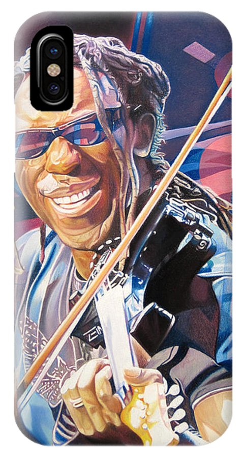 Boyd Tinsley IPhone X Case featuring the drawing Boyd Tinsley And 2007 Lights by Joshua Morton