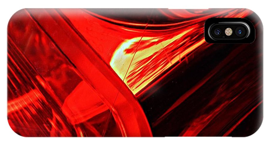 Glass IPhone X Case featuring the photograph Brake Light 14 by Sarah Loft