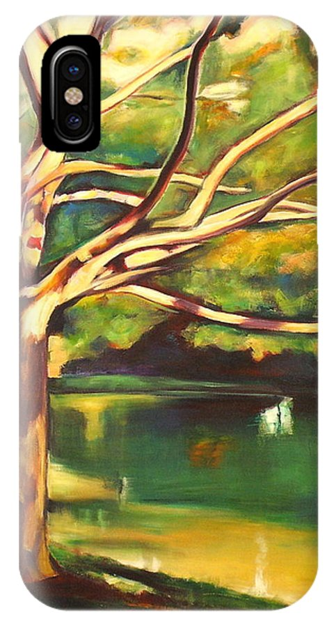 Branch IPhone X Case featuring the painting Branches Of Victoria Park II by Sheila Diemert