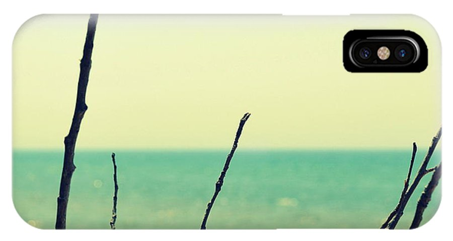Beach IPhone X / XS Case featuring the photograph Branches On The Beach by Michelle Calkins