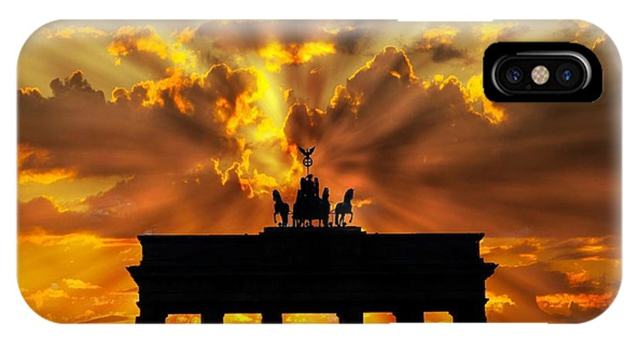 Brandenburg Gate IPhone X Case featuring the photograph Brandenburg Gate Brandenburger Tor Berlin Germany by Paul Fearn