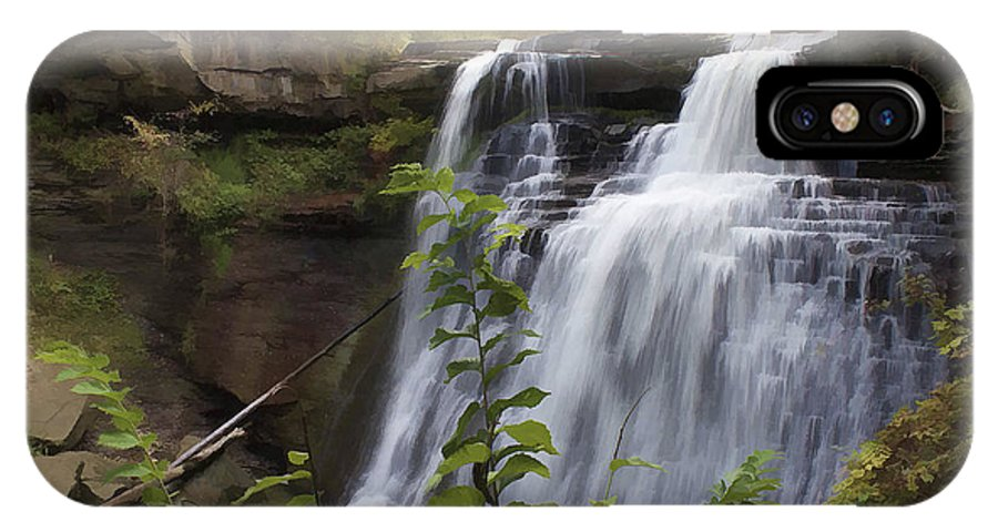 Cvnp IPhone X Case featuring the photograph Brandywine Falls by Jack R Perry