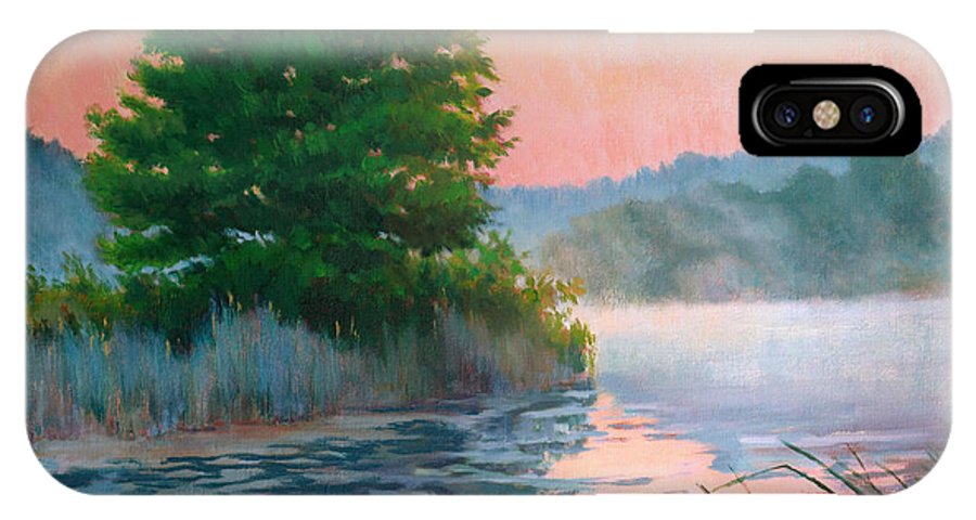 Impressionism IPhone X Case featuring the painting Break Of Day by Keith Burgess