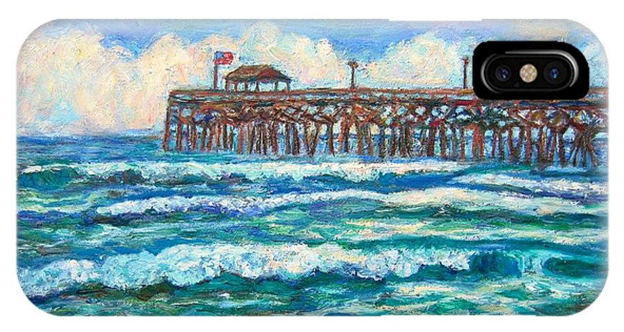 Shore Scenes IPhone Case featuring the painting Breakers At Pawleys Island by Kendall Kessler