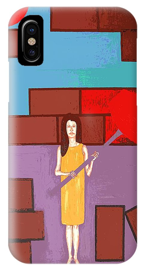 Art IPhone X Case featuring the painting Breakthrough by Patrick J Murphy