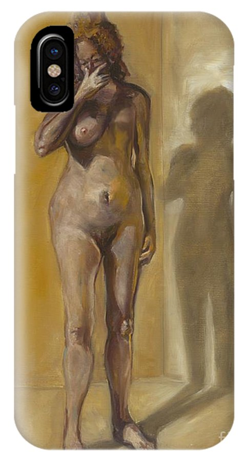 After IPhone X Case featuring the photograph Breast Cancer. Oil Painting by Photostock-israel