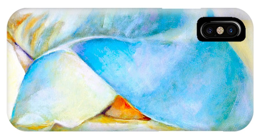 Romantic IPhone X Case featuring the painting Breathe Out by Norma Greenwood