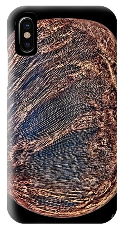 Briar IPhone X Case featuring the photograph Briar Wood Pipe by Walt Foegelle