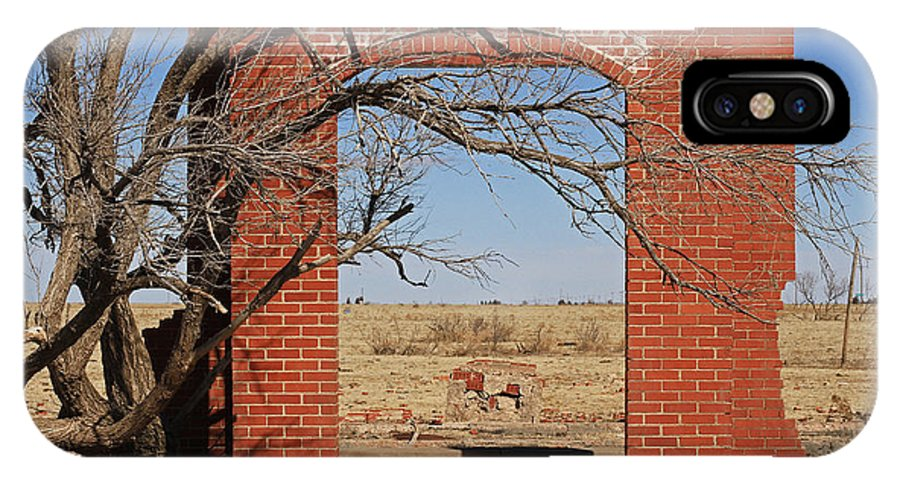 Texas IPhone X Case featuring the photograph Brick Entry 1 by Ashley M Conger