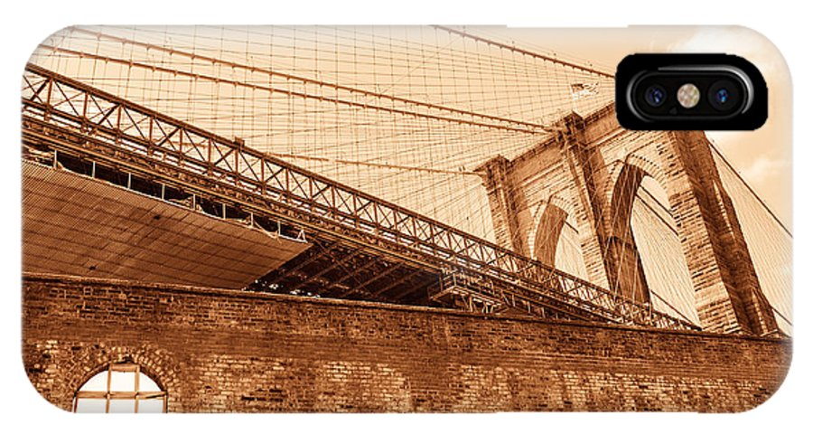 Ny IPhone X Case featuring the photograph Bricks And Cables by Luba Fayngersh