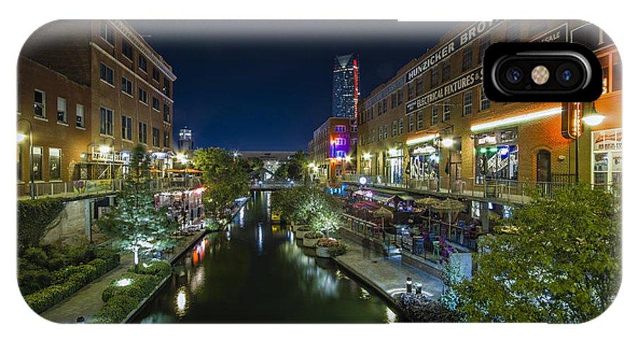Bricktown IPhone X Case featuring the photograph Bricktown Canal by Jonathan Davison