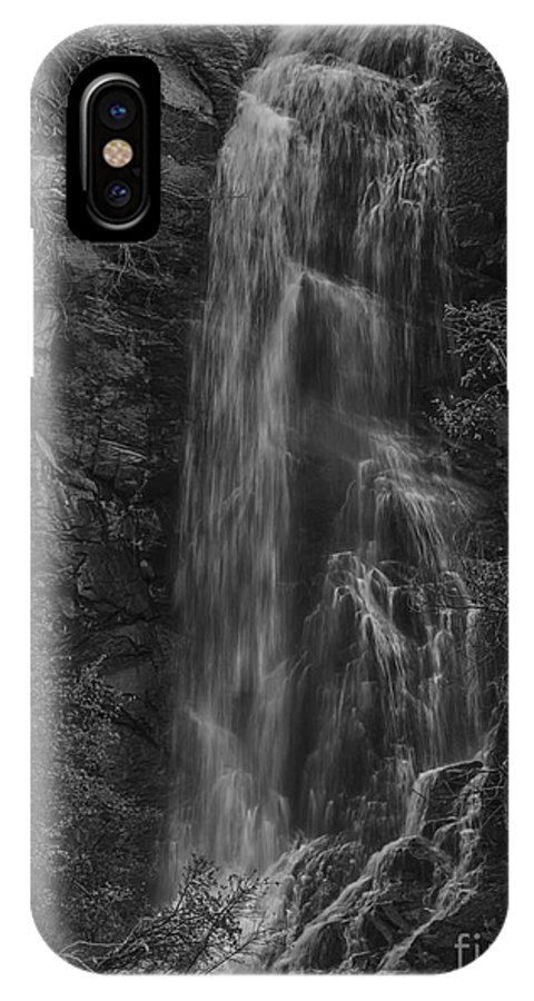 South IPhone X Case featuring the photograph Bridal Veil Falls At Spearfish Canyon South Dakota by Steve Triplett