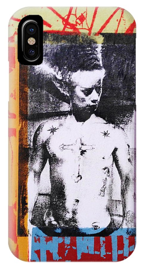 Gay Male Art IPhone X Case featuring the drawing Bride Of Frankenstein II by Carmine Santaniello