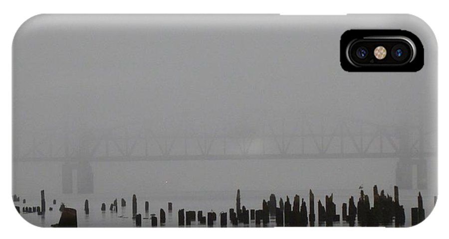 Fog IPhone X Case featuring the photograph Bridge In The Fog by Bobby Joe Sumpter