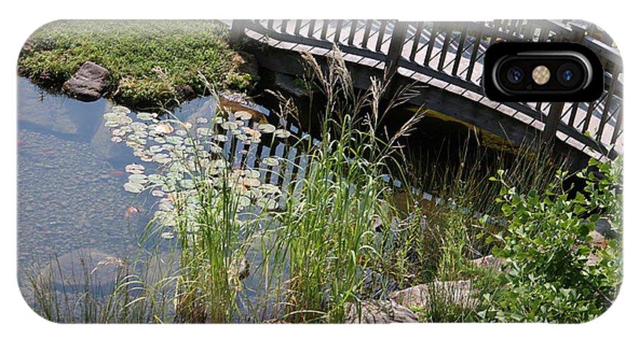 Bridge IPhone X / XS Case featuring the photograph Bridge Over Stream by Minnie Davis