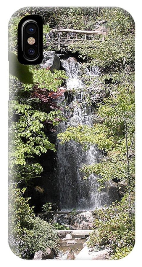 Bridge Over The Falls IPhone X Case featuring the photograph Bridge Over The Falls by Denyse Duhaime
