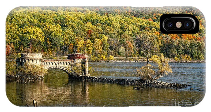Hudson River IPhone X Case featuring the photograph Bridge To Nowhere by Claudia Kuhn