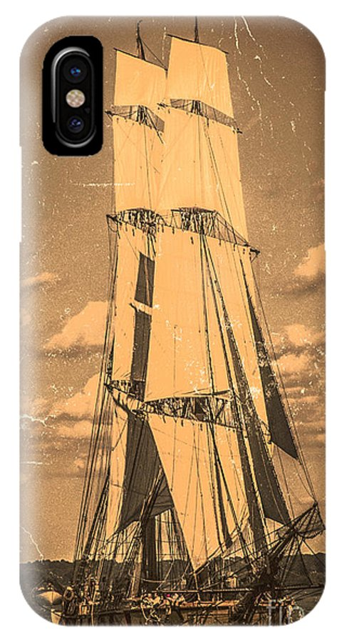 Photography IPhone X Case featuring the digital art Brig Niagara Antique by Kathryn Strick