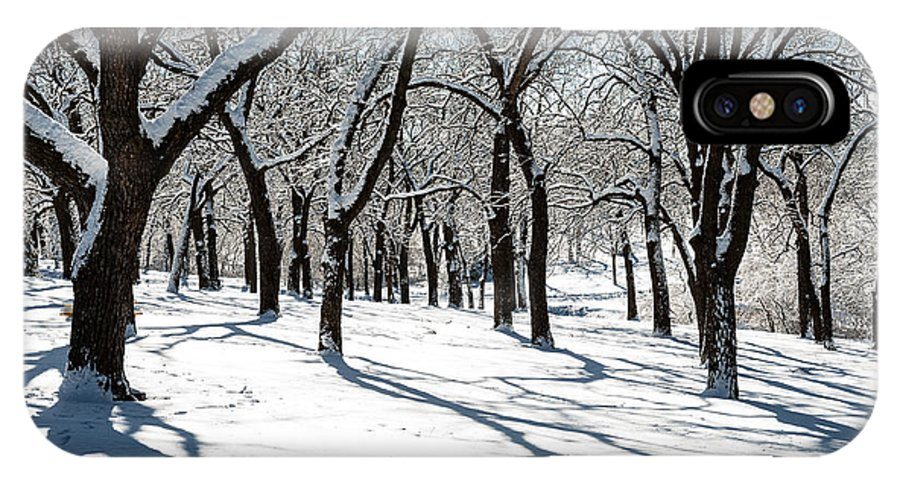 Winter Scene IPhone X Case featuring the photograph Bright Day by Edward Peterson