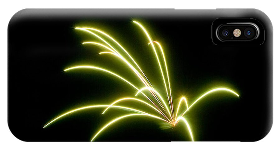 Fireworks IPhone X Case featuring the photograph Bright Green by Devinder Sangha