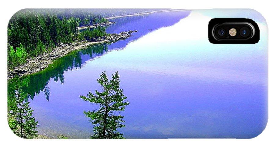 Lake IPhone X Case featuring the photograph Bright Kootenay Lake by Mavis Reid Nugent