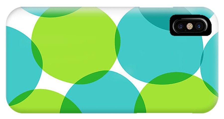 Crossover IPhone X Case featuring the digital art Bright Seamless Pattern With Circles by Yanakotina