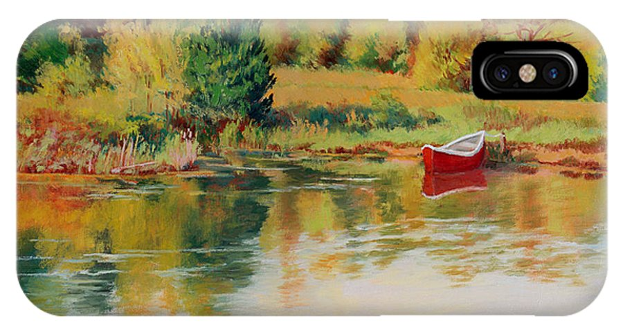 Landscape IPhone Case featuring the painting Bright Spring Afternoon by Keith Burgess