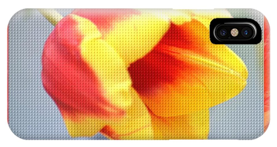 Bright Tulip IPhone X Case featuring the photograph Bright Tulip by Maria Urso