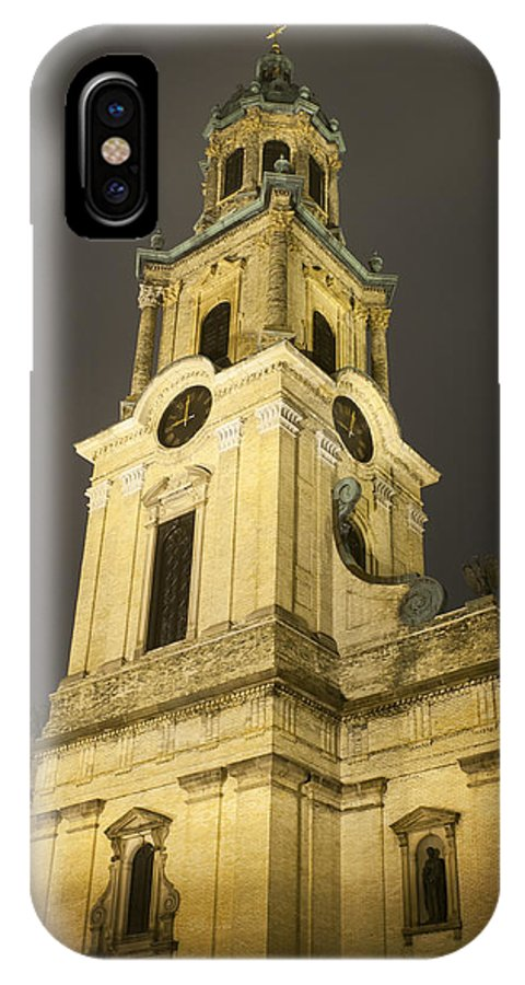 Church IPhone X Case featuring the photograph Brightening The Night by Tim Gumz