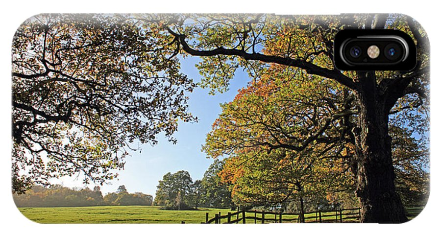 British English Countryside Landscape IPhone X Case featuring the photograph British Autumn by Julia Gavin