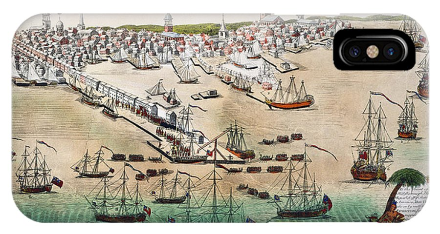 1768 IPhone X / XS Case featuring the photograph British Landing, 1768 by Granger